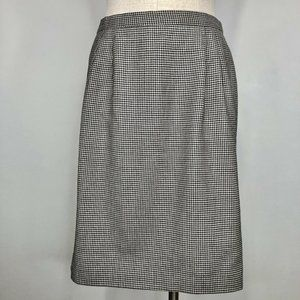 Talbots Skirts - Talbots Womens Houndstooth Pencil Skirt Wool 12